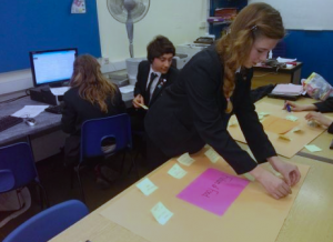 Park House School brainstom ideas for 'Future of Food'. They collaborated with a school in Australia