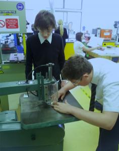 The Hayfield School team working on their model
