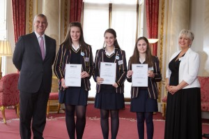 Loreto Grammar School - Winners of the Healthcare Category, the Best International Collaboration and the Overall Winners of the TeenTech Awrards