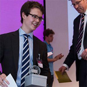 Harry, a teentech alumnae, at the TeenTech Awards