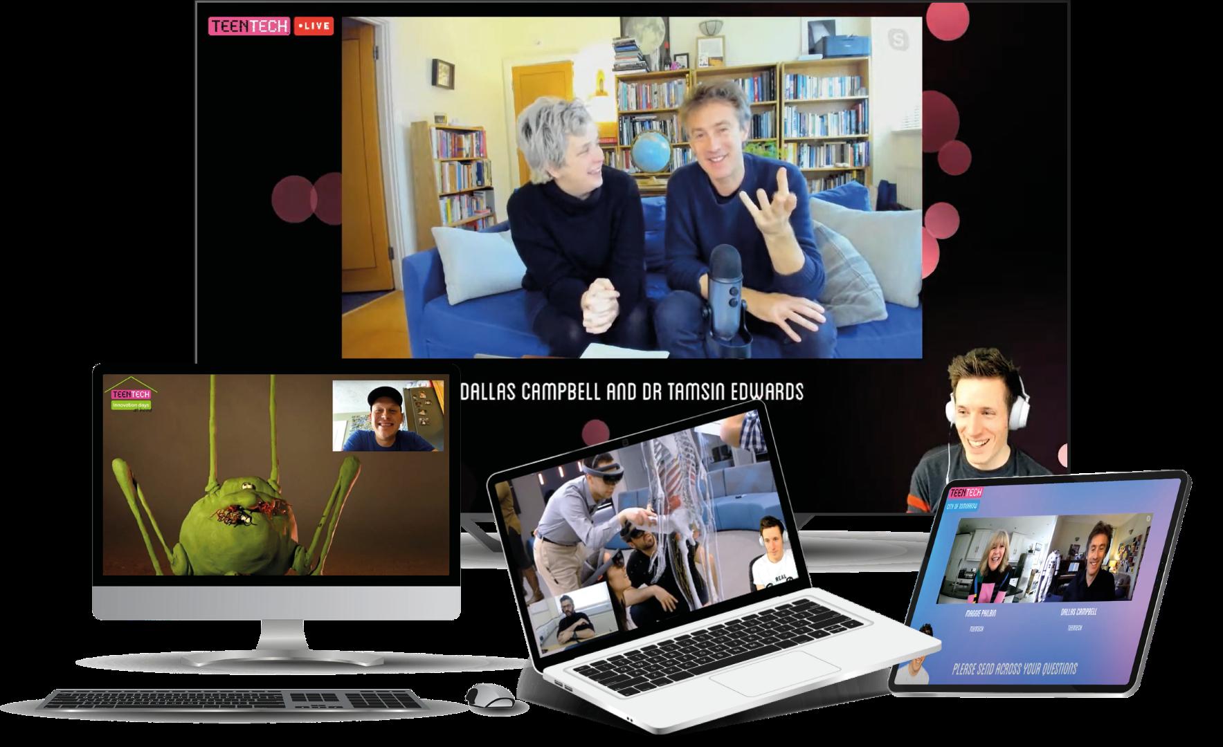 TeenTech Live screens
